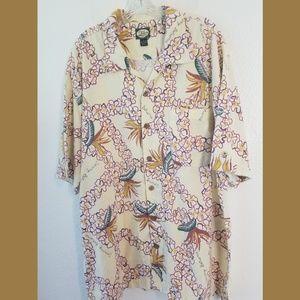 Tommy Bahama SS Hawaiian Tropical Shirt Sz XL